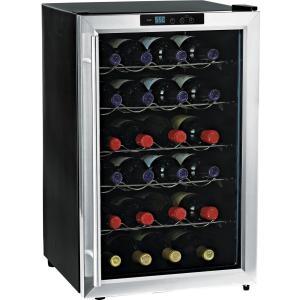 SILENT 28-BOTTLE WINE COOLER STAINLESS STEEL TRIM